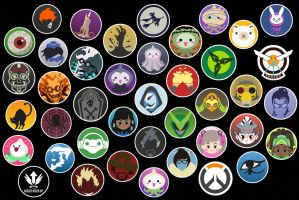 Overwatch stickers by LZCCreations