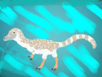 Compsognathus longipes by PrehistoricTravel
