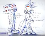 Shadow and Blaze - Doodle by Deimonday