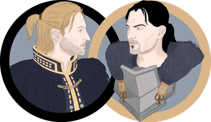 Anders and Georg Hawke by Ertenion