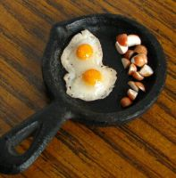 Fried Eggs and Cut Potatoes by fairchildart