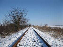 Railway under snow2 by Linden-Oak