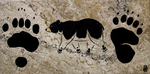 Prehistoric Style Black Bear painting by RobertMeyer
