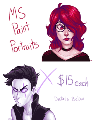 MS Painting Commissions [OPEN] by prpldragonart
