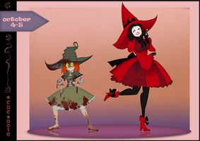 CDC oct: Day 4 and 5 - Zombie and Doctor witches. by iCassiekinz