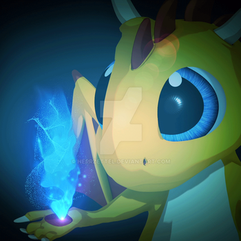 Cartoon Dragon with magical flame-made in Blender by HerrZettel