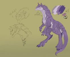 This is a purple dragon by wanlingnic