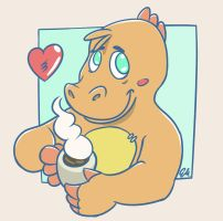 Morning Dino Coffee by TheInsaneDingo