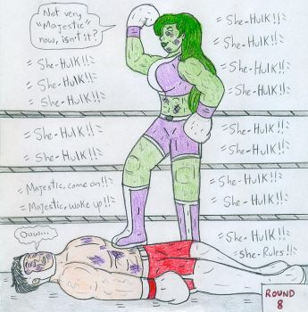 Boxing She-Hulk vs Mr Majestic by Jose-Ramiro