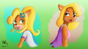 Bandicoot Gals - Coco and Tawna by TecGeckoTaylor