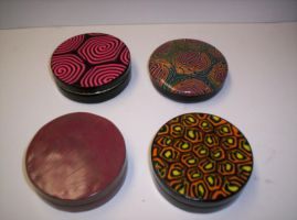 Polymer Clay Round Tins by Saint-Angel