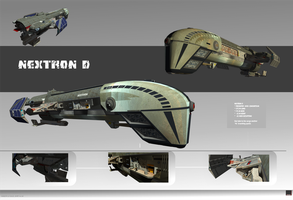 Spaceship Nextron 3D by MASCH-ART