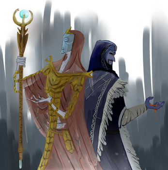 The dragon priest and the archmage by galaatear