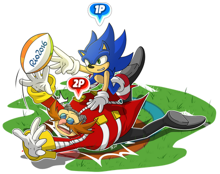 Mario And Sonic at the Rio Olympic games - Rugby by mizusawa-yuki