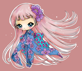 Little Japanese Girl by YamPuff