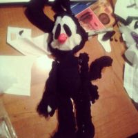 Yakko plushie progress, by 17cherry