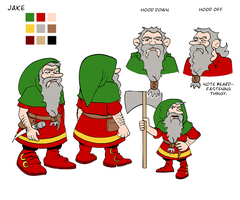 Jake the Gnome model sheet by Reinder