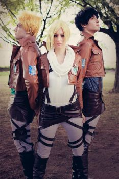 SnK ~ Bertolt, Reiner and Annie II by Yamato-Leaphere