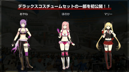 [DOA6] The 3 costumes of the deluxe version. by asamiya-kof