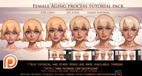 Female Aging step by step tutorial pack .promo. by sakimichan