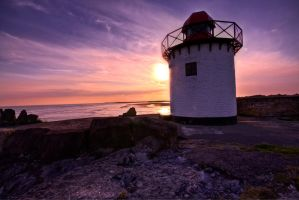 Burry Port lighthouse. by CharmingPhotography