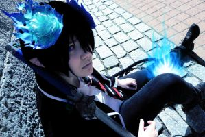 Rin Okumura cosplay: In flames by Nifetius