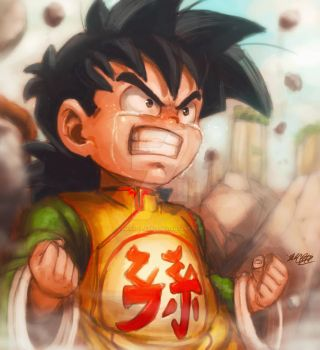 Kid Gohan rage plus video by Mark-Clark-II