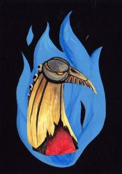 Day 10: blue fire by GreenSprite
