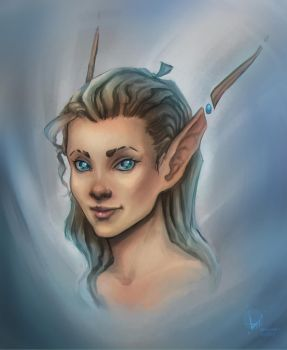 Icy elf - Daily Drawing 2 by Suichah