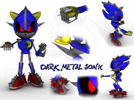 Dark Metal Sonic by Adreos