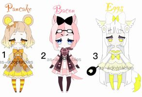 kawaii breakfast adoptable batch closed by AS-Adoptables