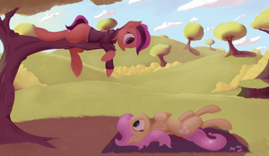 Fluttershy and Scootaloo by SubjectNumber2394