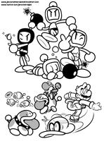 Poochy and Bomberman's Odyssey by JamesmanTheRegenold