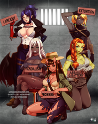 COMMISSION: Wanted Girls by jadenkaiba