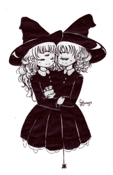 little strangers witches (finish) by selene-bunny