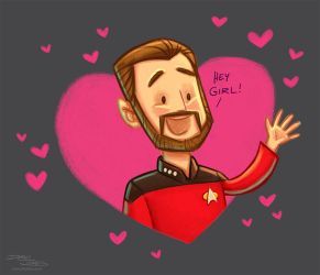 Hey Riker by danidraws