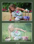 Egg hunt - before after by annewipf