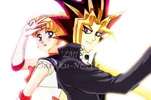 P.C: Yami Yugi and Sailor Moon by The-PirateQueen