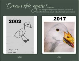 Draw This Again  - Duck - 2002 - 2017 by fluffelkuh