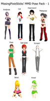 MMD Pose Pack - 1 by MissingPixieSticks