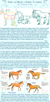 .Horse Tutorial. by Turquoise-Lupine