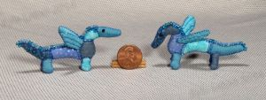 Mini Patchwork Dragons No. 3 and 4 by Kyle-Lefort