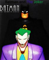 BTAS Batman and The Joker Comic Cartoon Print by TheGreatDevin