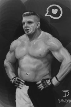 Brock-lesnar-value-study by 0ziRi5
