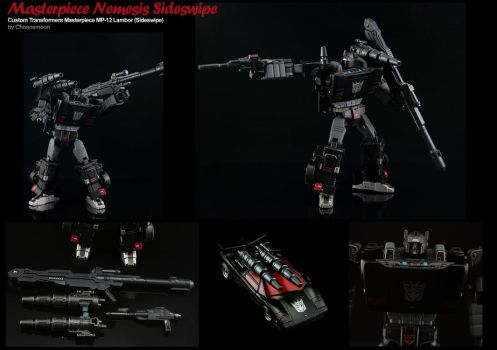 Custom Transformers Masterpiece Nemesis Sideswipe by chonosmoon