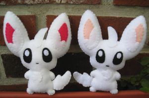 Minccino plush times two
