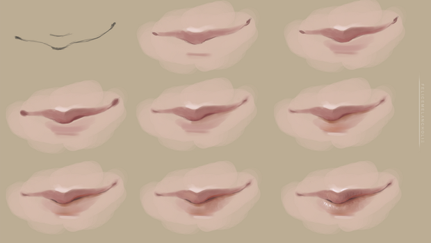 Realistic Lips Tutorial by artisticxhelp