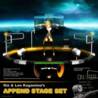 MMD Rin Chan's Append Stage Set by Trackdancer