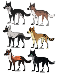 [CLOSED ADOPTABLES POINTS/PP] - Canines by NorthernUrsus