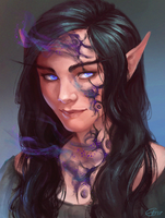 Shadow Priest (commission) by airagitt